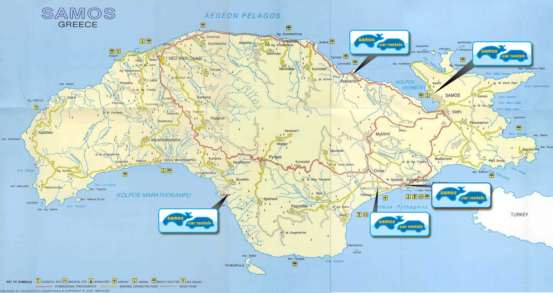 Samos Car Rentals Info And Links